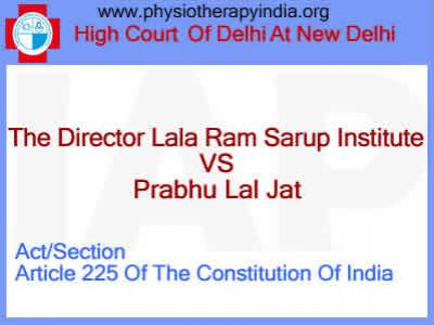 The Director Lalaram Sarup Institute Vs Prabhu Lal Jat