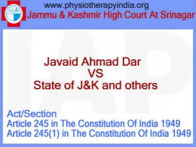Javaid Ahmad Dar  Vs State of J&K and others
