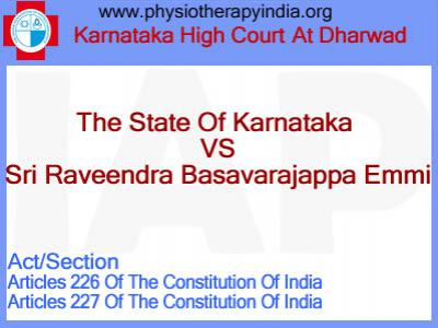 The State Of Karnataka vs Sri Raveendra Basavarajappa Emmi